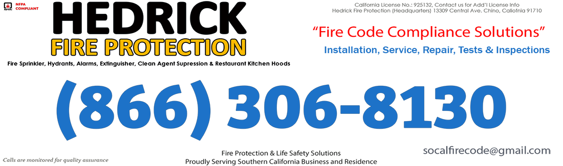 Santa Ana Fire Protection | Installation, Service, Repair, Tests and Inspections