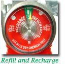 Fire Extinguisher Recharge Gauge
